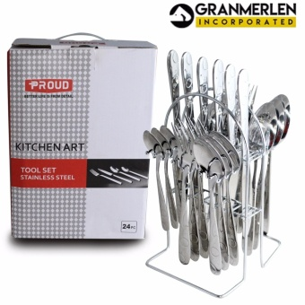 New Cutlery Set Spoon, Fork, Knife and Teaspoon - 24 Piece in a Set