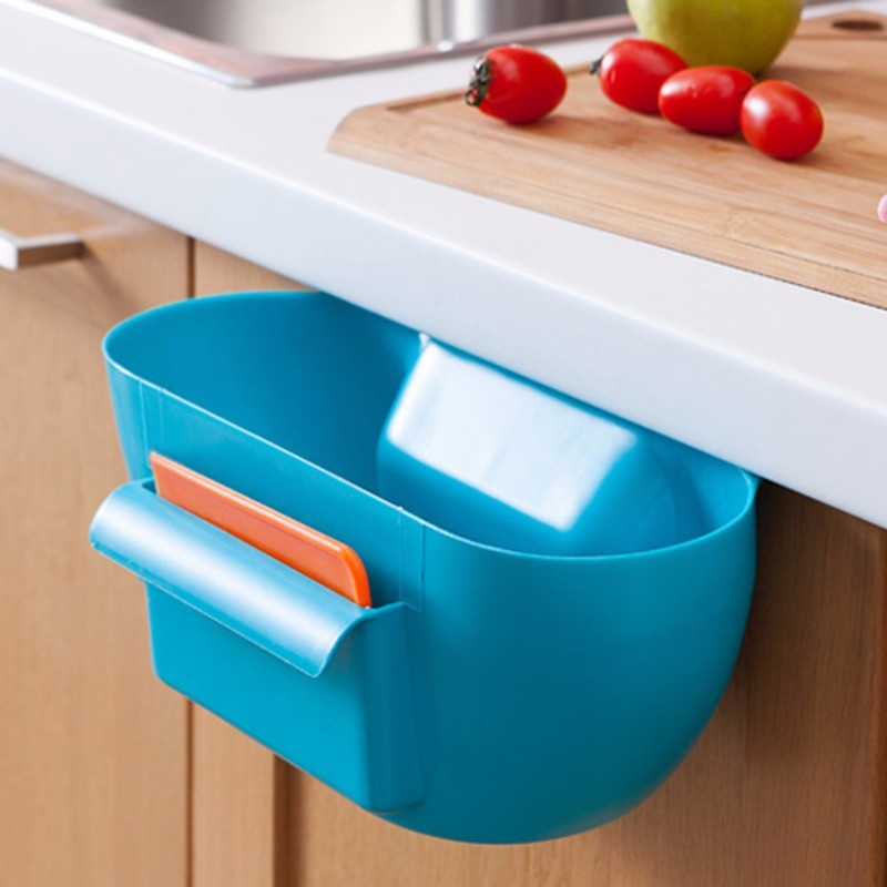 ... New Design Plastic Kitchen Mini Trash Can Over The Cabinet WasteBasket  Garbage Rubbish Bin   Intl ...