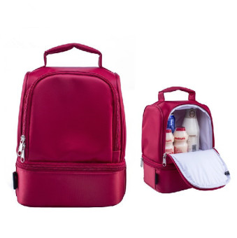 New Design Thick Warm Thermal Insulated Boxes Nylon Lunch Bag RedLunch Bags Tote with Zipper Cooler Lunch Box Insulation Bag Price Philippines