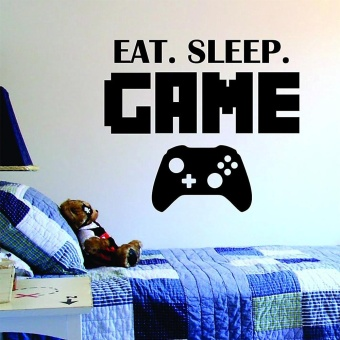 New Eat Sleep Game Version 2 Decal Sticker Wall Vinyl Art Design -intl