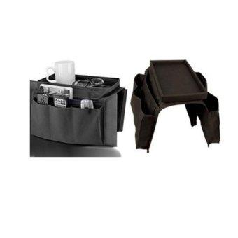 New Fashion 6 Pockets Sofa Handrail Couch Armrest Arm RestOrganizer Remote Control Holder Bag On TV Sofa Organizer (Color:Black) - intl - 4
