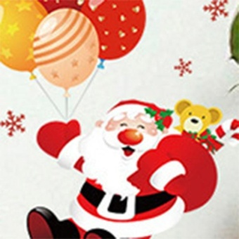 New Fashion Christmas Tree Santa Claus Bedroom Living RoomRemovable Decorative Wall Stickers - intl - 2