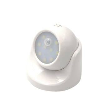 New Fashion PIR Human Body Induction Infrared Motion Sensor Rotatable Night Light 9 LED Control Indoor Lighting Corridor Energy Saving Cabinet Small Size Portable Battery Power Automatic Detachable Camera Lamp Bathroom Camping - intl - 2