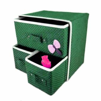New Folding 3 Drawer Fabric Storage Box Organizer - 4
