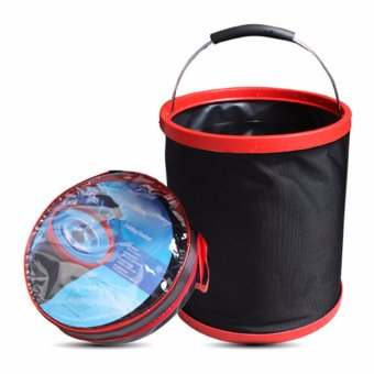 New Folding Bucket Car Washing Fishing Applicable Tub PortableOutdoor Camping 12L - intl