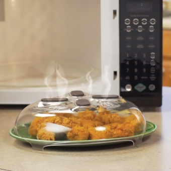 New Food Splatter Guard Microwave Hover Anti-Sputtering Cover -intl