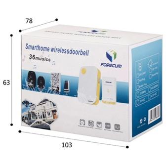 New Forecum FK-06M Smart Waterproof Plug-in Type Wireless Doorbellwith 36 Kinds Melodies (US Standard) Black - intl - 4