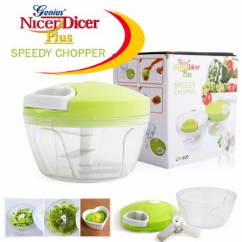 New Generation Genius Nicer Dicer Plus Multi-Functional SpeedyChopper for Onion, Garlic, Vegetable and Fruits (WHITE/GREEN) Price Philippines