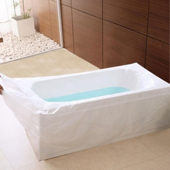 New Health Disposable Film Bathtub Bag for Household and Hotel BathTubs Useful - intl