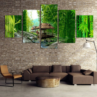 New Hot print Oil Paintings Bamboo Landscape Picture Canvas Painting On Wall Pictures For Living Room Decor unframed art picture (No Frame)
