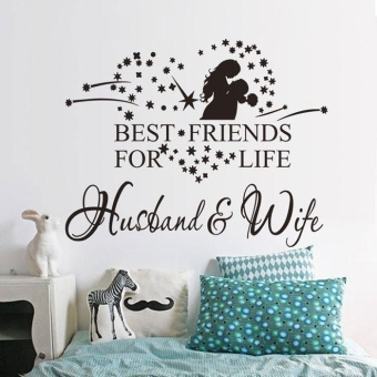 New Husband And Wife Vinyl Decal Bedroom Wall Art Decor StickerHome Decor - intl