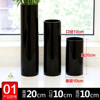 New large black hydroponic Lily lucky bamboo vase