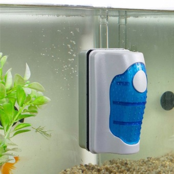 New Magnetic Brush Aquarium Fish Tank Glass Algae Scraper Cleaner Floating Curve aquarium accessory cleaning_XL - intl