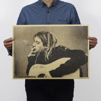 New Nirvana Bands Poster Retro Vintage Style Kraft Paper Pub Gifts Art - intl