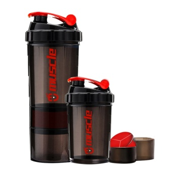 New Protein powder shaker bottle fitness Mixer Sports Fitness gym 3 Layers special whey protein shaker milk shaker - intl