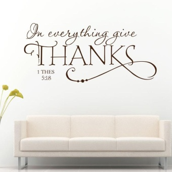 New Removable Art Vinyl Quote Thanks Good DIY Wall Sticker DecalDecor - intl