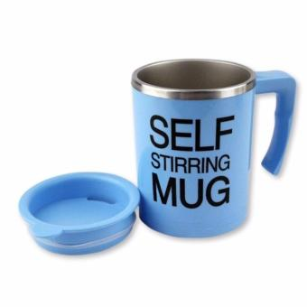 New Self Stirring Coffee Mug (Blue)