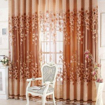 New Sheer Curtain Panel Drape Floral Window Balcony Room coffee