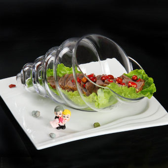 New snail-like Transparent Glass Tableware