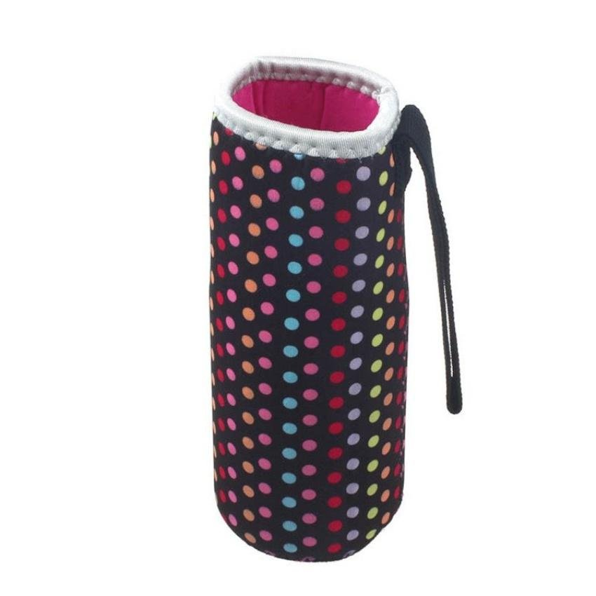 New Warm Heat Insulation 500Ml Water Bottle Thermos Cup Bag (Black) - intl product preview, discount at cheapest price