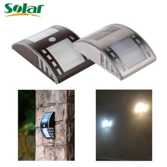 Newest Solar Light Stainless Steel Motion Sensor Lights LED PIRStreet Wall Garden Outdoor Solar Lamp Powered Lamps - intl