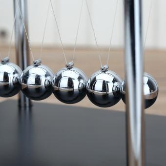 Newton's Cradle Balance Ball Classic Toy Wooden Base Newtons CradlePhysics Pendulum Science Wave Home Desk Office Decoration(Medium) -intl - 5