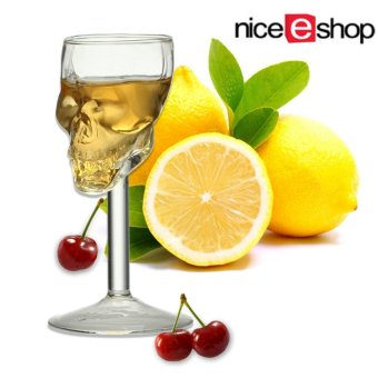 niceEshop 75ML Creative Skull Skeleton Wine Glass Cup DecantersGoblet Wineglass Red Wine Cocktail Whisky Beer Champagne - intl
