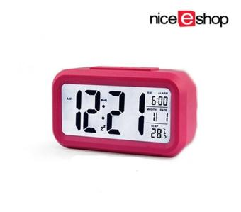niceEshop Silent Digital Alarm Clock with Time Temperature DisplayNight Light (Roseo) Price Philippines
