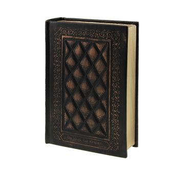 NICESHOP Leather Vintage Embossed Cover Notebook Life Story BookBlank Hardback Scrapbook Travel Ultra Thick Writing Journal WorkDiary with Book-Ruler (Black) - intl - 2