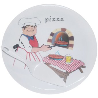 Nippon Ware 024 Pizza Tray with Server Set (White) Price Philippines
