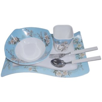 Nippon Ware 1015 Breakfast Set (White/Blue) Price Philippines