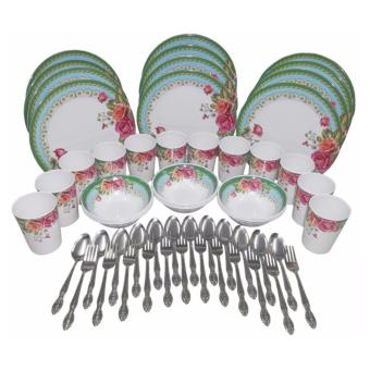 Nippon Ware 60-pc Party Set (Rosa Verde) Price Philippines