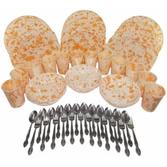 Nippon Ware 60 pc Party Sets (marble Orange) Price Philippines