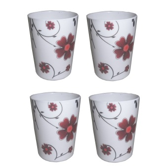Nippon Ware A4654 Refreshment Set (White/Red) Price Philippines