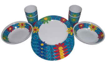 Nippon Ware A5080 Round Dinnerware Set (White/Purple) Price Philippines