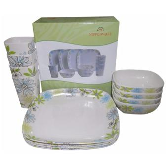 Nippon Ware A5412 Square Dinnerware Set (White)