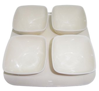 Nippon Ware F30 Bowl Set with Serving Tray 5-piece Set (White) Price Philippines