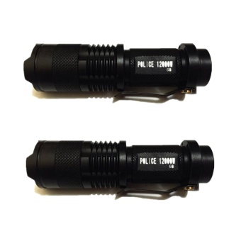 No. 68 Type Rechargeable Cree LED Flashlight Set of 2