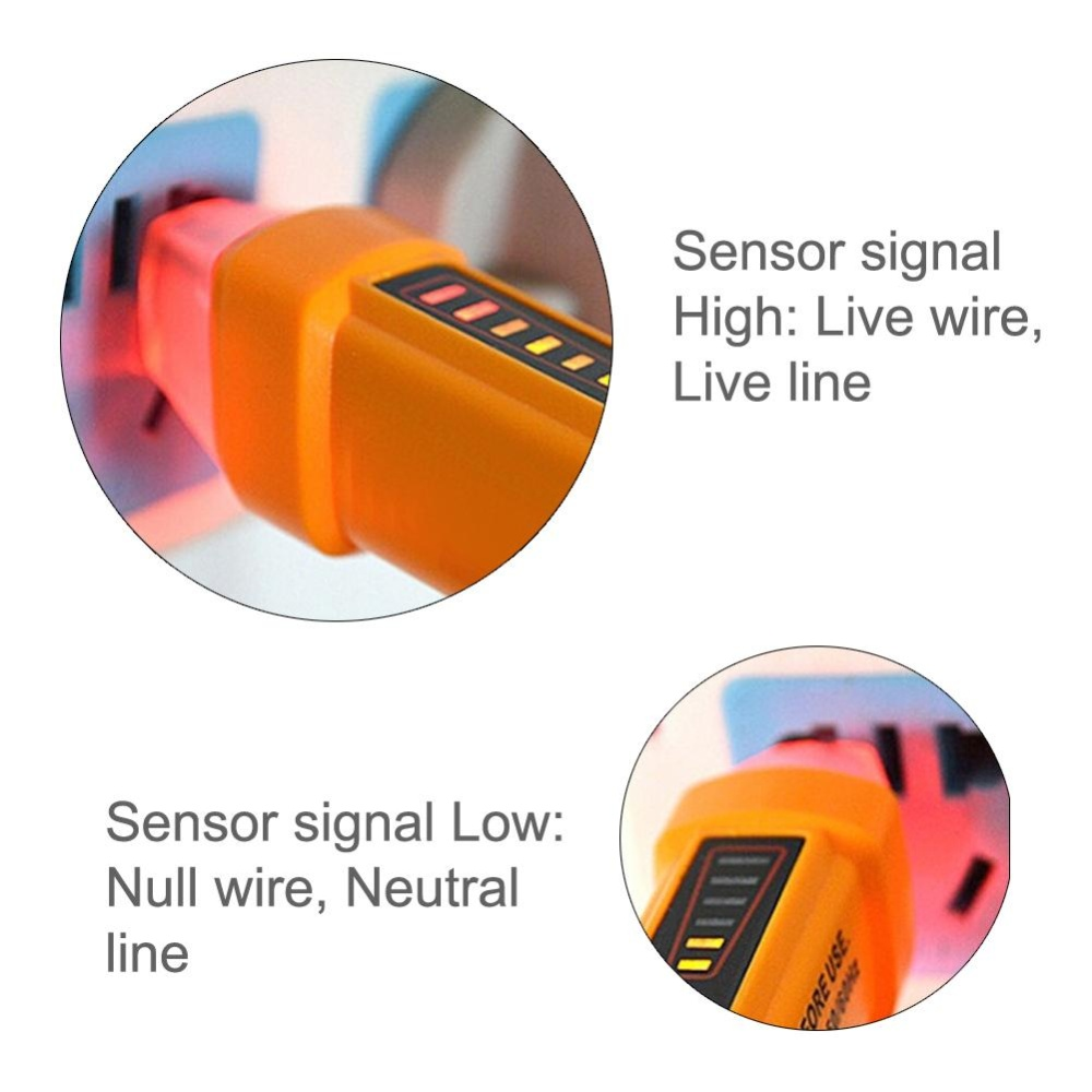 Philippines Non Contact Voltage Tester 50 60hz Ac 12 1000v Pen Details About Detector 90v To Electrical Live Circuit Detectororange