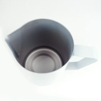 Non-stick Stainless Steel Espresso Coffee Latte Frothing Jug White 600ML - picture 2