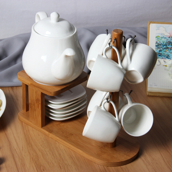 Nordic Jianyue ceramic heating combination cup teapot