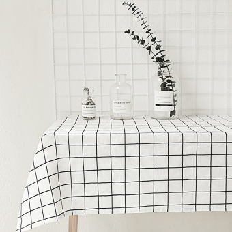 Nordic Jianyue cotton linen life plaid tablecloth