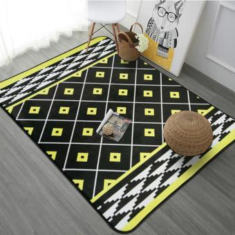 Nordic Style 100X150CM Large Size Rugs Anti-Skid Shaggy Area RugDining Room Carpet Floor Mat Home Bedroom,40X60 Inches,Yellow -intl