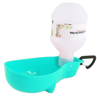 Nunbell 300mL Pet Dog Cat Automatic Water Bottle Feeder DispenserBowl (Light Blue)