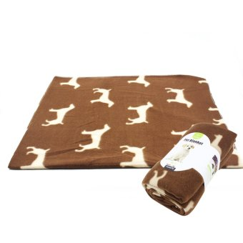 Nunbell Dogs Pattern Pet Mat Blanket (Brown)