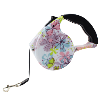 Nunbell Floral Pattern 4.5M Automatic Retractable Dog Leash
