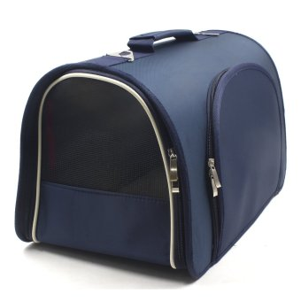 Nunbell Large Pet Dog Travel Bag Carrier (Navy Blue)