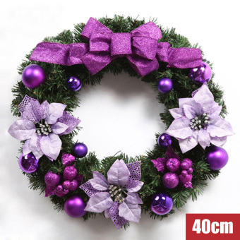 Nuo Qi 40 cm/50 cm/60 cm Cooljie rattan Ring Hotel mall door hanging Christmas wreath
