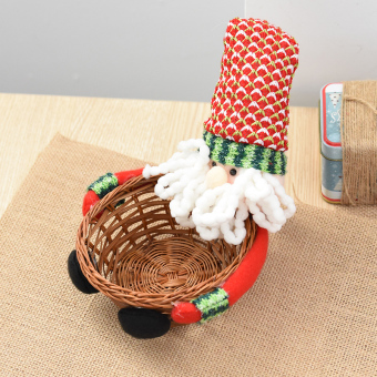 Nuo Qi Christmas candy basket candy cans