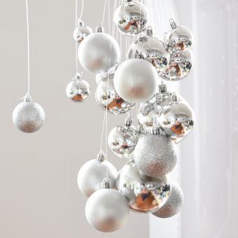 Nuo Qi decorative ceiling window electroplated ball Christmas Ball